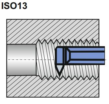 toczenie gwintów przy użyciu ISO13 NNGd