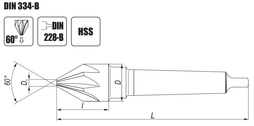 Pogłębiacze stożkowe NWSb DIN 334 B