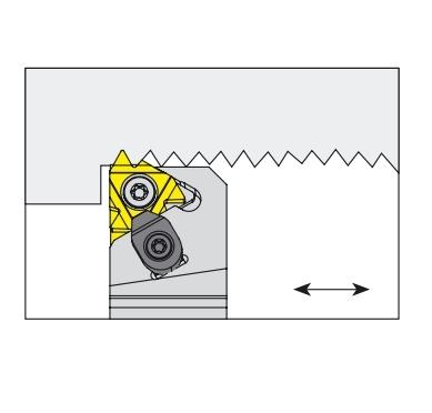Nóż tokarski składany do toczenia gwintów zewnętrznych prawy - SER