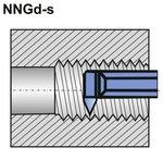 Nóż do gwintu wewnętrznego NNGd-s