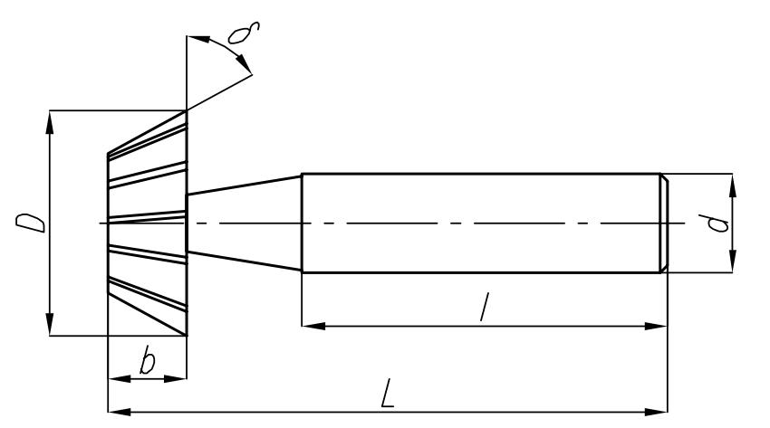 wymiary zewętrzne frezów na jaskółczy ogon