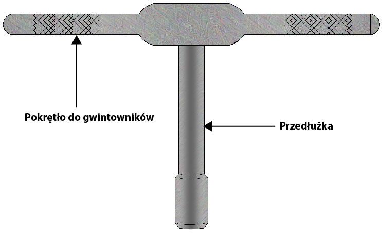 przedłużka gwintownika