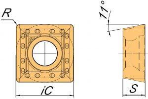 Rysunek techniczny płytki SPKX