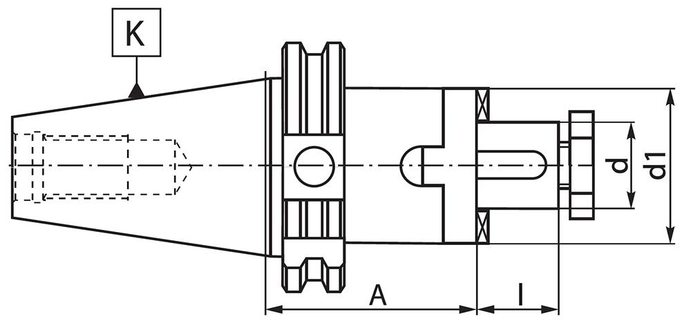 Trzpień 7301 DIN-69871-A