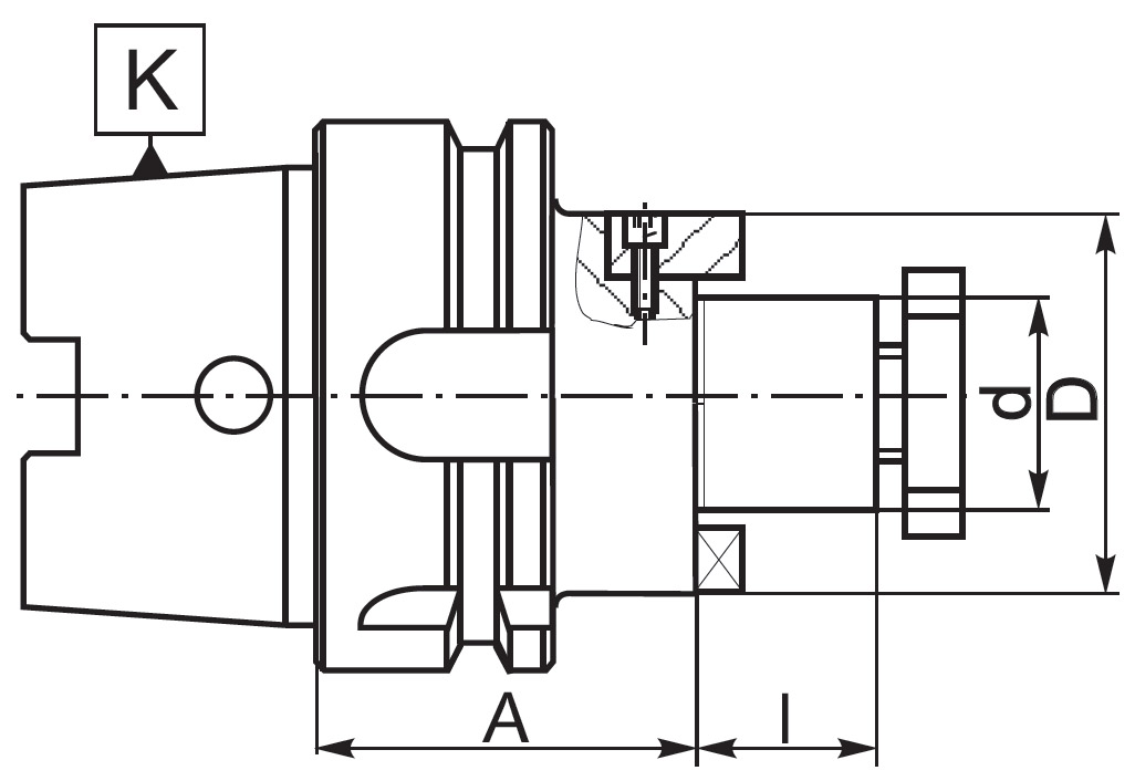 Trzpień 7888 DIN-69893-A