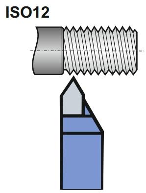 toczenie gwintów za pomocą ISO12 NNGr