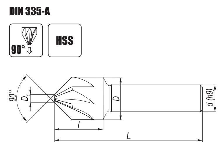 Pogłębiacz stożkowy DIN 335A