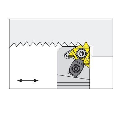 Nóż tokarski składany do toczenia gwintów zewnętrznych lewy - SEL