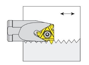 Nóż tokarski składany do toczenia gwintów wewnętrznych lewy - SIL