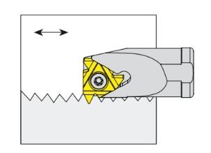 Nóż tokarski składany do toczenia gwintów wewnętrznych prawy - SIR