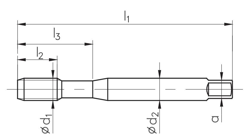 zestaw gwintowników fanar gwintownik DIN-375