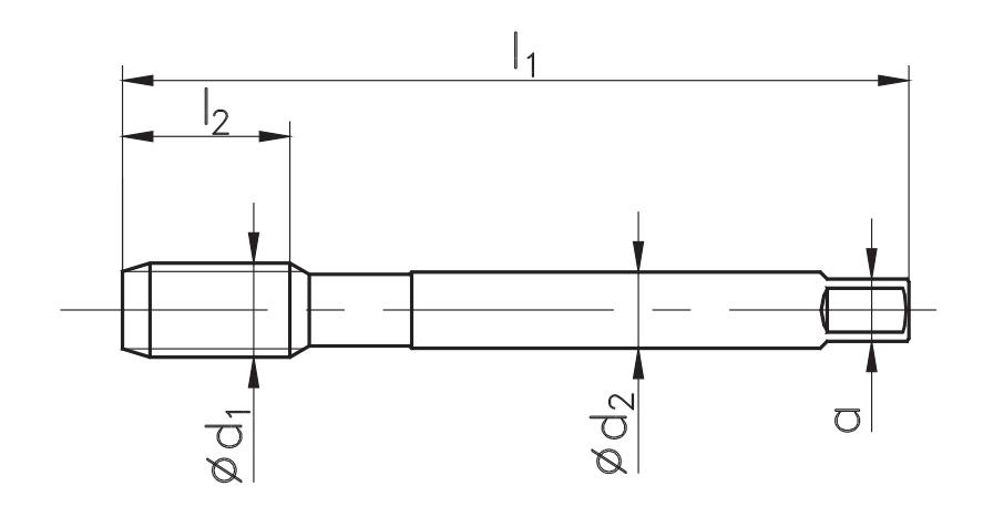 zestaw gwintowników Fanar, gwintownik DIN-376