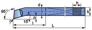 Wymiary wytaczaka spiczastego NNWb
