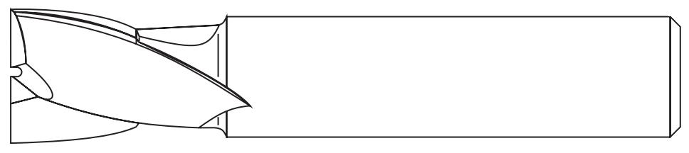 Chwyt gładki walcowy frezów trzpieniowych DIN-1835-A