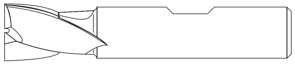 Chwyt Weldona, walcowy, posiadający spłaszczenie DIN-1835-B