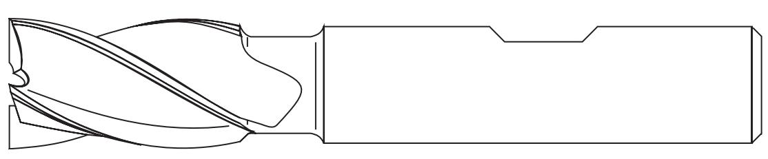 Chwyt frezów Weldona, walcowy ze spłaszczeniem wg. DIN-1835-B