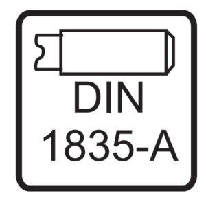 Oznaczenie chwytu DIN 1835 A