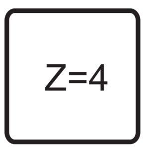 Oznaczenie graficzne liczby ostrzy