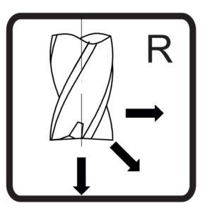 Oznaczenie kształtu frezu Fanar z promieniem naroża