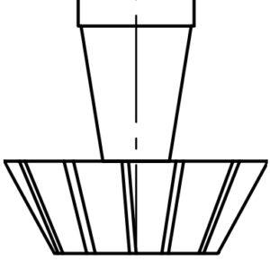 Schemat czoła kształtowego frezów