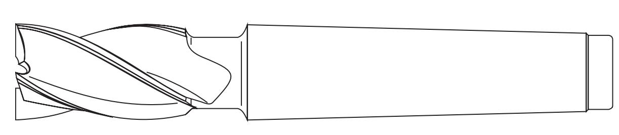 Schemat wyglądu frezów stożkowych