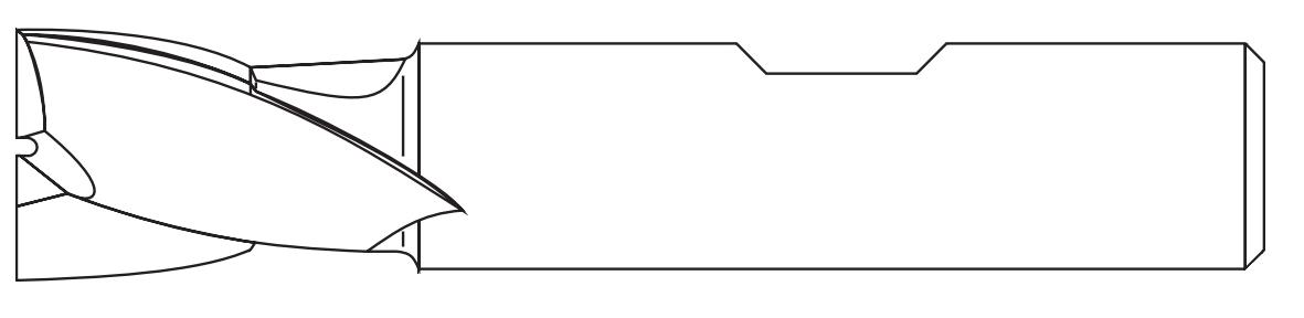 Schemat wyglądu frezów walcowych weldon