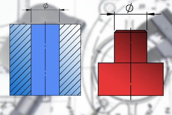 Kalkulator tolerancji wymiarów otworu i wałka.