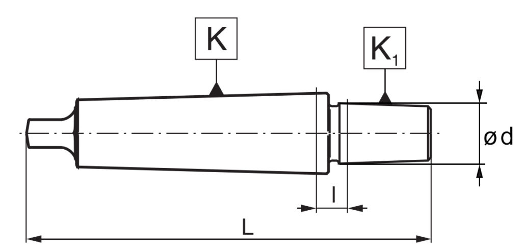 Wymiary stożka Morse'a