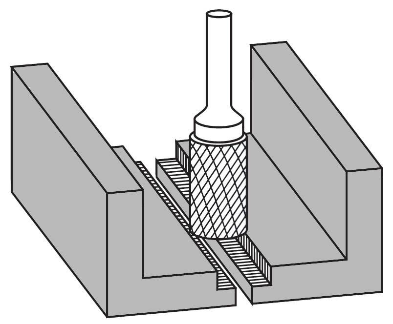 Pilnik rotacyjny walcowo-czołowe B zastosowanie