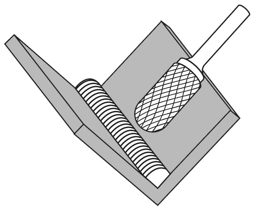 Pilnik rotacyjny zaokrąglony C zastosowanie