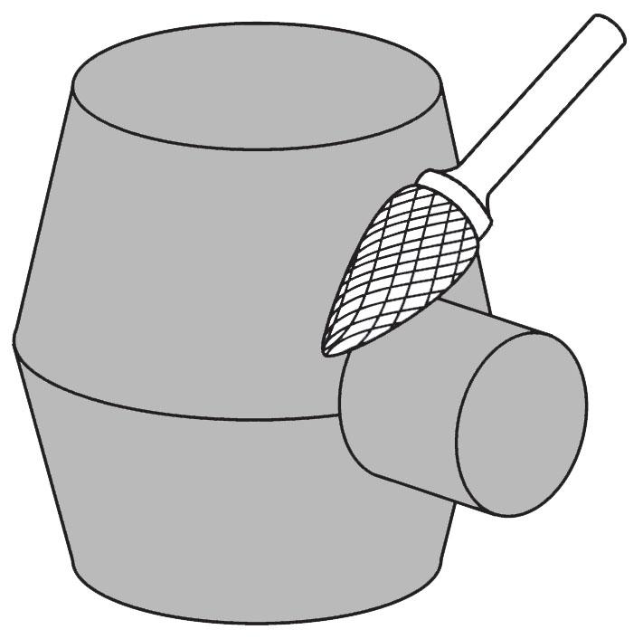 Pilnik rotacyjny płomieniowy H zastosowanie