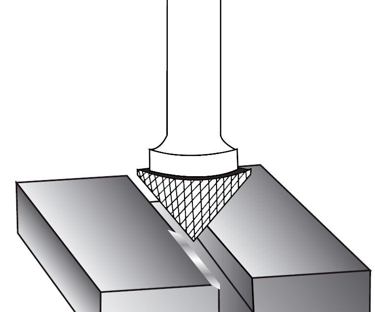 Pilnik rotacyjny stożkowy 90 stopni K zastosowanie