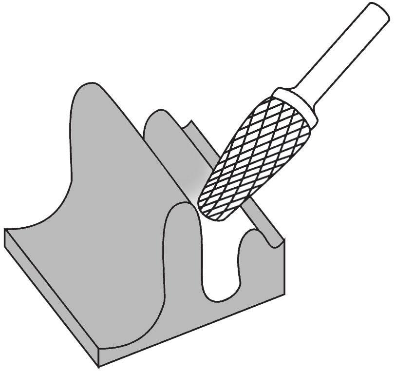 Pilnik rotacyjny stożek okrągły L zastosowanie
