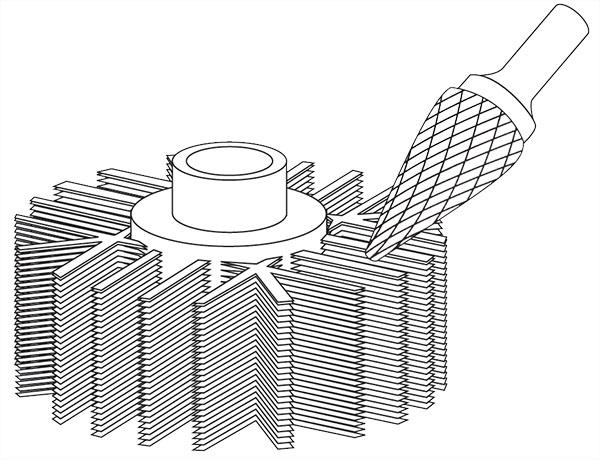 Pilnik rotacyjny stożek ostry M zastosowanie