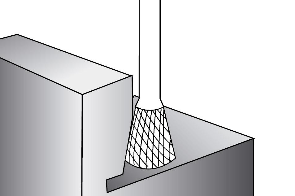 Pilnik rotacyjny stożek odwrócony N zastosowanie