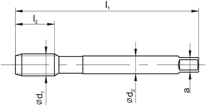 rzut gwintownika DIN-376