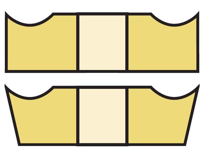 Kształt powierzchni natarcia M