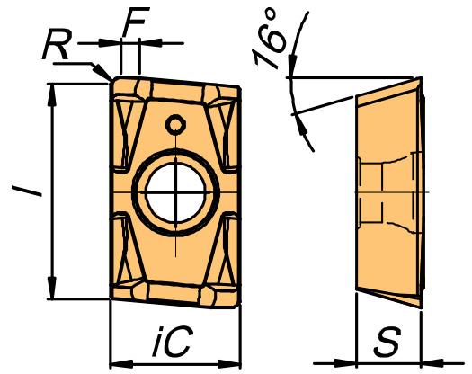 Płytka frezarska APFT rysunek
