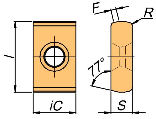 Płytka skrawająca LNE rysunek