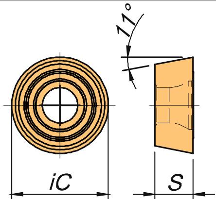 Płytka skrawająca ROMW rysunek