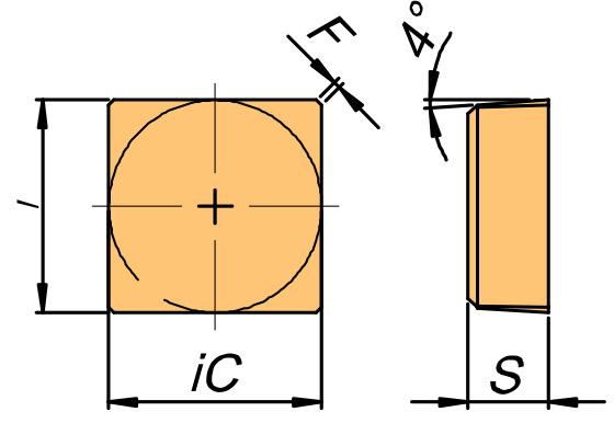 Płytka skrawająca SBEX rysunek