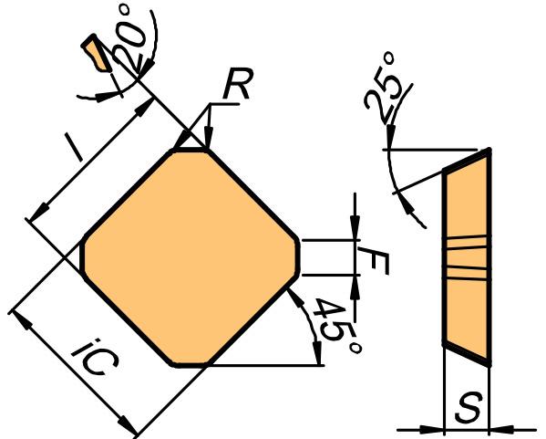Płytka skrawająca SEAN rysunek