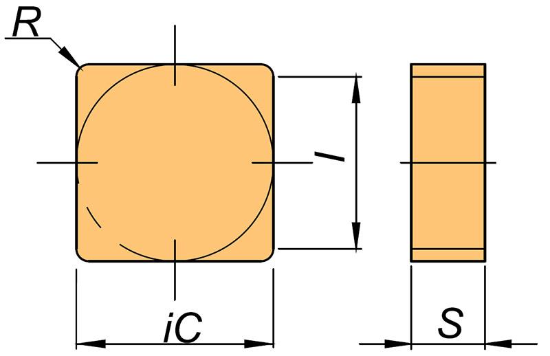 Płytka skrawająca SPGN rysunek