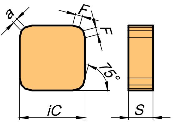 Płytka skrawająca SNKN rysunek