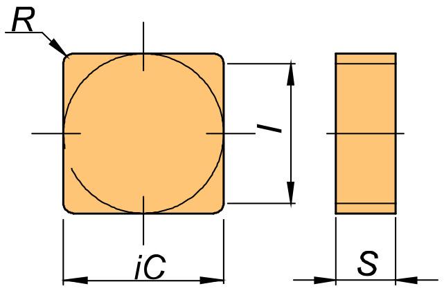 Płytka skrawająca SNUN rysunek