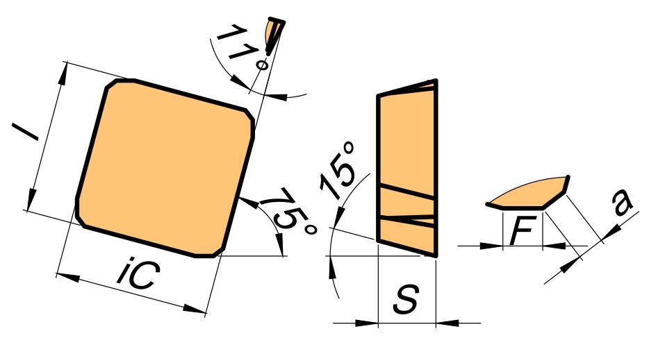 Płytka skrawająca SPKN rysunek