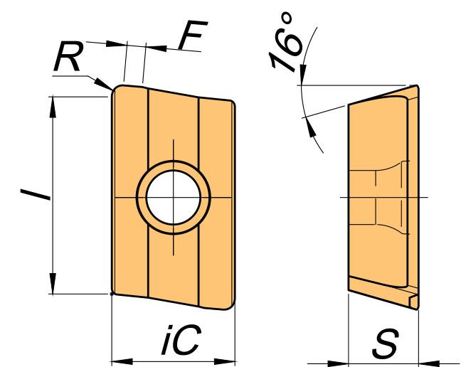 Płytka skrawająca XPHT rysunek