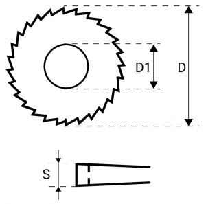 Rysunek budowy freza piłkowego