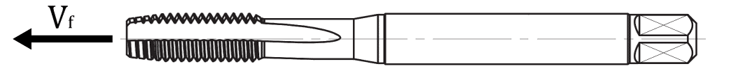 Rysunek prędkości posuwu gwintownika