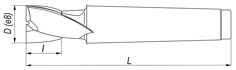 Rysunek freza do rowków na stożku Morse'a
